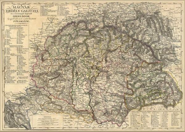 Nagy Magyarorszag Terkepe 1821 Magyar Nyelvu Terkep