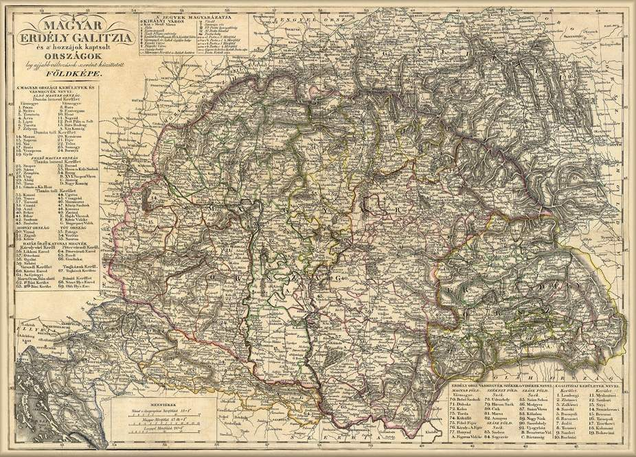 nagy magyarország térkép nyomtatható Nagy Magyarország térképe 1821 magyar nyelvű térkép nagy magyarország térkép nyomtatható