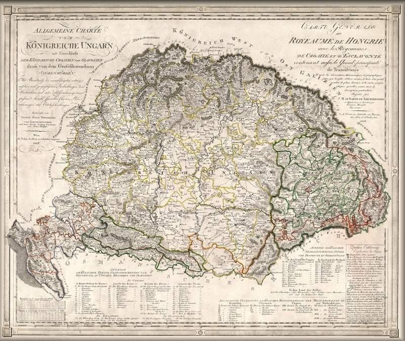 nagy magyarország térkép nyomtatható Történelmi Nagy Magyarország térkép 1805 német nyelvű nagy magyarország térkép nyomtatható