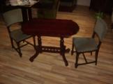 ó-német szalonasztal+két szék