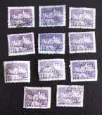 11 db Somló vára magyar posta bélyeg futottak