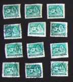12 db Simontornya 40 fillér magyar postabélyeg