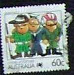 Ausztrál bélyeg pecsételt