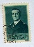 Horthy Miklós kormányzó 1 pengős bélyeg futott