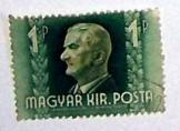 Horthy Miklós kormányzó magyar királyi bélyeg