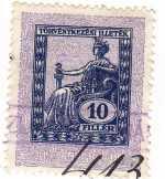 Magyarország törvénykezési illetékbélyeg 1922.
