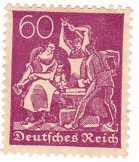 Német birodalom forgalmi bélyeg 1922