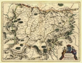 Erdély térkép 1647 latin nyelvű  másolat