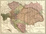 Magyarország és Ausztria térkép 1906 angol nyelvű