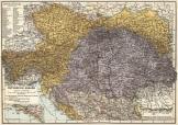 Osztrák - Magyar Monarchia térkép német nyelv