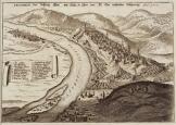 T30 Buda térkép 1684 latin nyelvű  másolat reprint