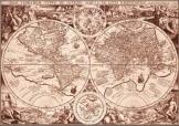 Világ térkép1594  latin nyelvúű másolat