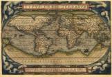 Világtérkép 1570 latin nyelvű másolat reprint