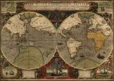 Világtérkép 1595 latin nyelvű másolat