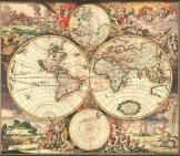 Világtérkép 1680 latin nyelvű másolat reprint