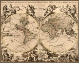 Világtérkép 1694 latin nyelvű másolat reprint