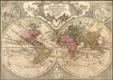 Világtérképtérkép 1692  latin nyelvű másolat