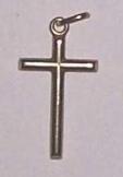 14 karátos medál feszület 2,5 cm olasz fémjelzésse