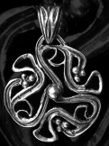 Áttört mintázatú ősmagyar medál 20mm, ezüst