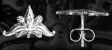 Fülbevaló Csokorpálmás 15*17mm ezüst