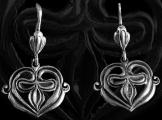 Kenézlői fülbevaló 22mm ezüst