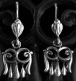 Középkori ősmagyar fülbevaló 12mm ezüst