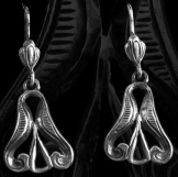 Népvándorláskori ősmagyar Fülbevaló 17mm ezüst