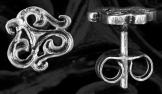 Palmettás fülbevaló 12mm ezüst
