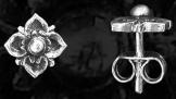 Szív alakú fülbevaló ezüst
