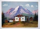Ismeretlen festő Alpesi táj 3 akvarell  35*25 cm