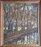 Festmény Klimó István tájkép
