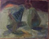 Iván Szilárd: Almák olajfestmény farost 25cm*35 cm