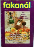 Fakanál:  szakács folyóírat újság 1994 /1. száma