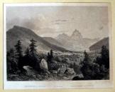 Bergsturz és Goldau hegycsúcsok nyomat