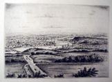 Budapest régi látképe metszeten