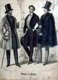 P�rizsi francia f�rfi divat metszet