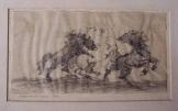 Péntek András rajza Lovak a Kopp-gyűjteményből