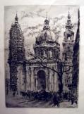 Szent István bazilika Budapest metszeten