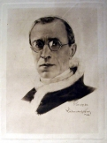 XII Pius pápa portréja metszet