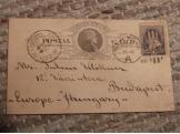 1888  Amerikai levelezőlap