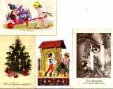 4 üdvözlő képeslap a 30-as évekből