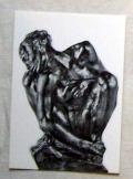 Auguste Rodin szobra  francia postatiszta képeslap