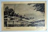 Fonyód kikötőrészlet képeslap 1958 nem futott