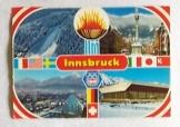 Innsbruck 1976 téli olimpia osztrák képeslap