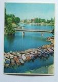 Képeslap Baja Duna híd Bakonyi Béla fotója