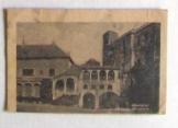 Sárospatak Rákoczy vár udvara képeslap
