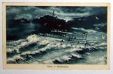 Vihar a Balatonon képeslap futott 1936-ban