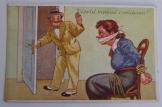 Viseld magad csendesen  magyar karikatúra képeslap