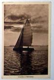 Vitorlás a Balatonon futott 1940-ben  képeslap