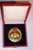 MHSZ 1948-1988 emlékplakett 7cm dísz dobozzal